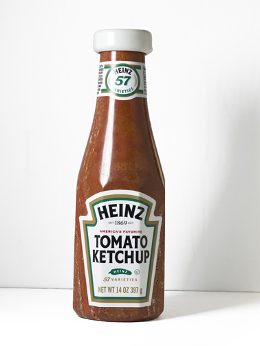 Heinz Ketchup, carved stone, by Robin Antar