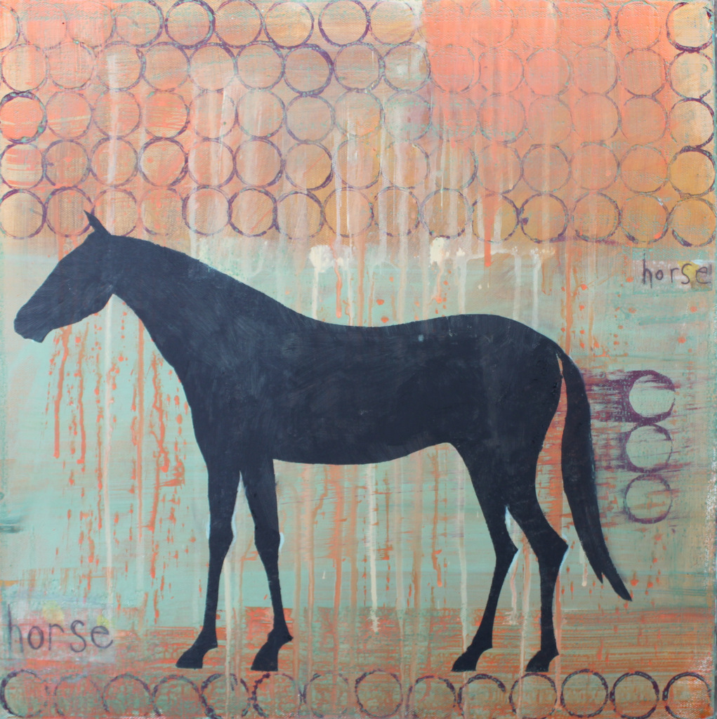 Horse 1, painting by Clare Haxby