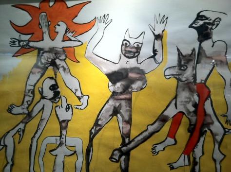 """Alexander Calder, Le Chaval-Cailiou,  gouache on paper   29.2 x 42.5""""  Waterhouse & Dodd"""