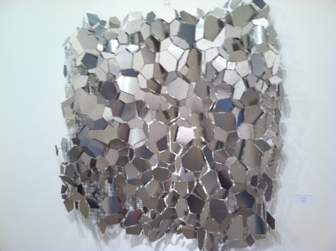 "George Sherwood,Seismic Memory, stainless steel 62 x62""  Cynthia Reeves Gallery"