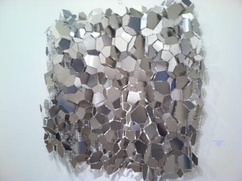 "George Sherwood,Seismic Memory, stainless steel 62 x62""  Cynthia Reeves Gallery"