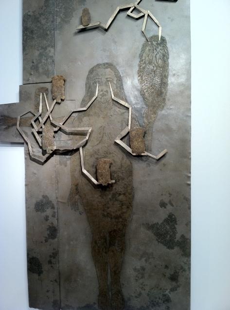 "Kiki Smith   'Telepathy'.  Bronze.  95.1 x 56.3 x 4.25""   Galerie LELONG"
