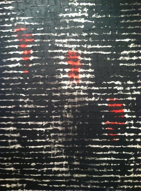 Robert Diago, No 13 (de la series Entre Lineas), mixed media on canvas