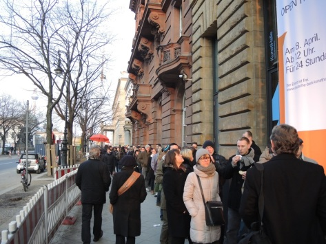 outside the Berlin Deutsche Bank exhibit, photo courtesy of Emily Putter