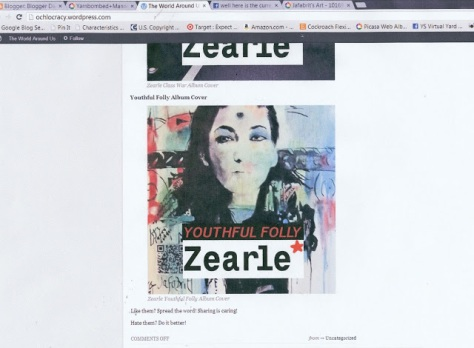 Zearle Youthful Folly music album cover