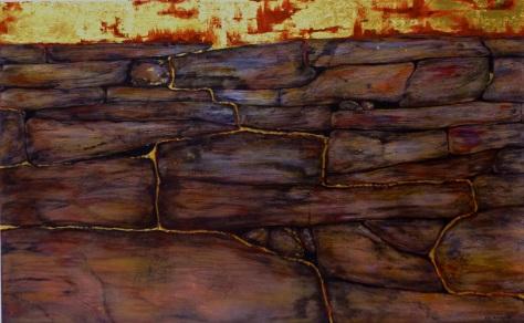 Seep, painting by Vicki K. Amorose