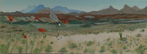 Spring Ocotillo and Dove, J.R.Smith