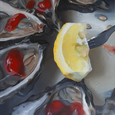 6 Well Fleet Coctails, painting on canvas, Nadine Robbins