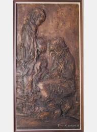 Boys, bas-relief, Tony Cassisi