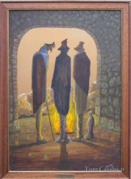 Shepherds Under a Porch, painting by Tony Cassisi