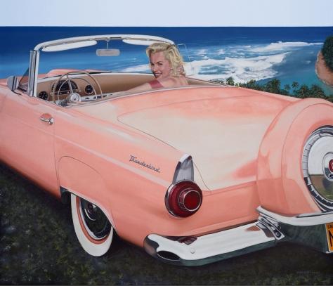 Marilyn & 1956 Thunderbird, by Chris Osborne