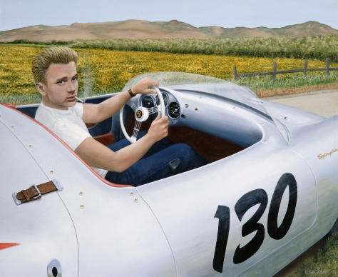 James Dean & 1955 Porsche Spyder by Chris Osborne