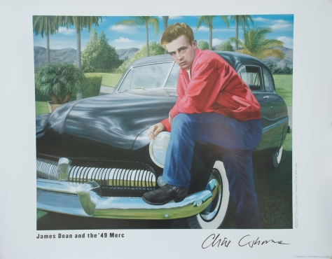 James Dean and '49 Mercury, poster, Chris Osborne