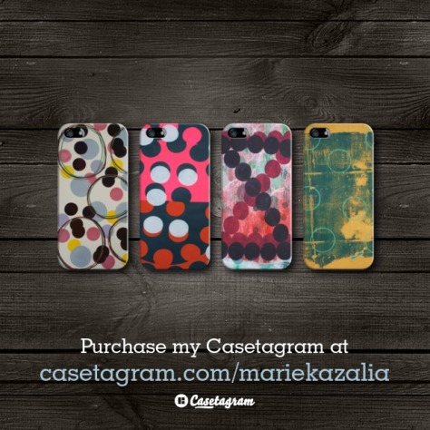 4 iPhone case art designs by Marie Kazalia available on Casetagram