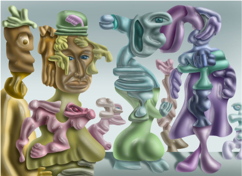 On the Avenue, Fine Art Print on Paper By Artist Michael Krasowitz