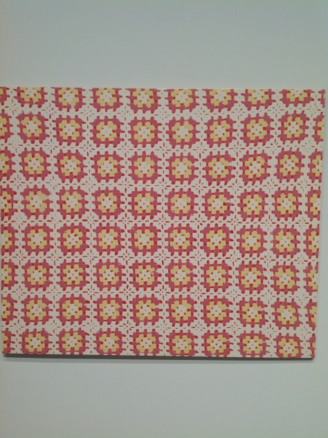 Michelle Grabner, enamel paint pattern painting
