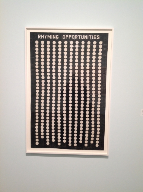 Rhyming Opportunities, Simon Evans, MOCA Cleveland