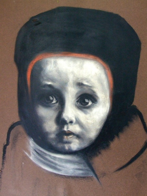 WEDNESDAYS Child, oil pastel, 20 inches x 15 inches, Tony Barber