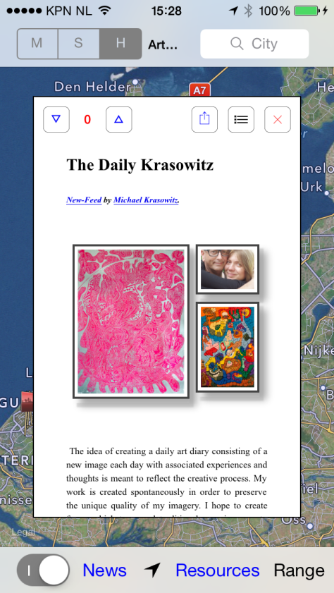 Read The Daily Krasowitz Print-a-Day Artist Blog on Your iPad/iPhone in the ArtWorld App Newsfeed