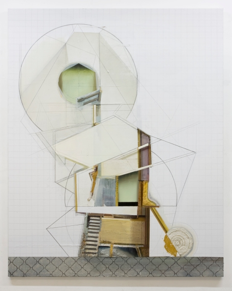 Dil Hildebrand, A-201 - 2014, oil and acrylic on canvas, 228 x 183cm