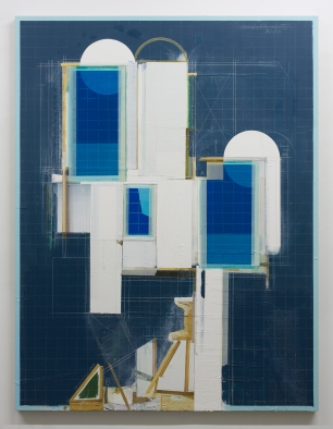 Dil Hildebrand, Abandoned Building, Acrylic on Linen, 2013