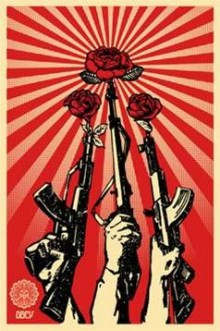 Guns and Roses, Shepard Fairy poster