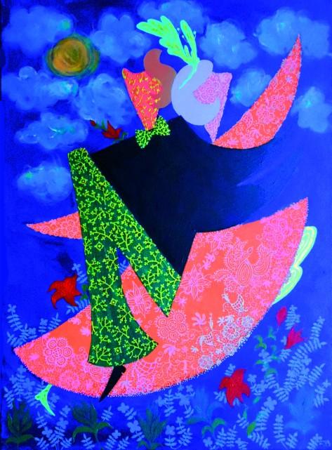 Dance in Moonlight, Lela Tabiashvili, Acrylic on canvas, 60 x 80 cm, $2500