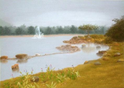 Garden view(pastel & pastel paper) Dimension: 3249 x 2303 Artist name: Esther Lau Retail price: USD20
