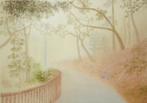 Misty morning(pastel & pastel paper) Dimension: 3296 x 2283 Artist name: Esther Lau Retail price: USD130