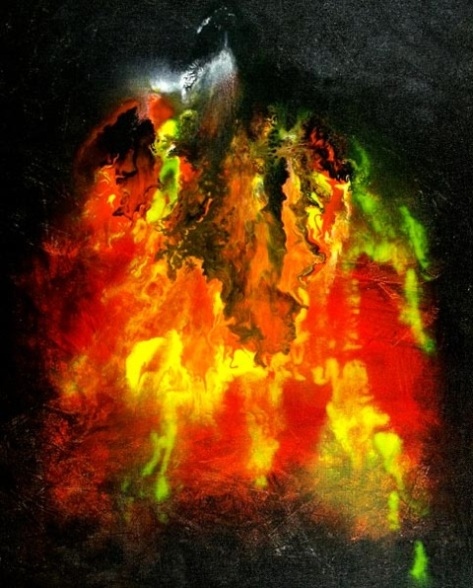 Ignition, Randall Marmet', 16 x 20 x 3/4 inches. This hand-painted artwork is on hand-stretched gallery-quality canvas clear coated with archival artists varnish for protection against dust and abrasion. $130.00 USD