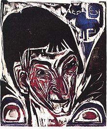 Ernst Ludwig Kirchner , Portrait of Otto Müller , 1915