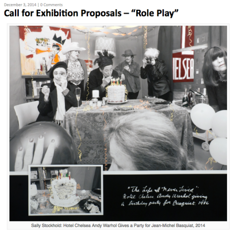 """Role Play"" Photography Exhibition Opportunity: It's Not Juried / No Fee"