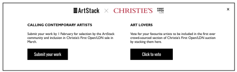 #Opencall – Artists Submit for Inclusion in Christie's First Open Auction