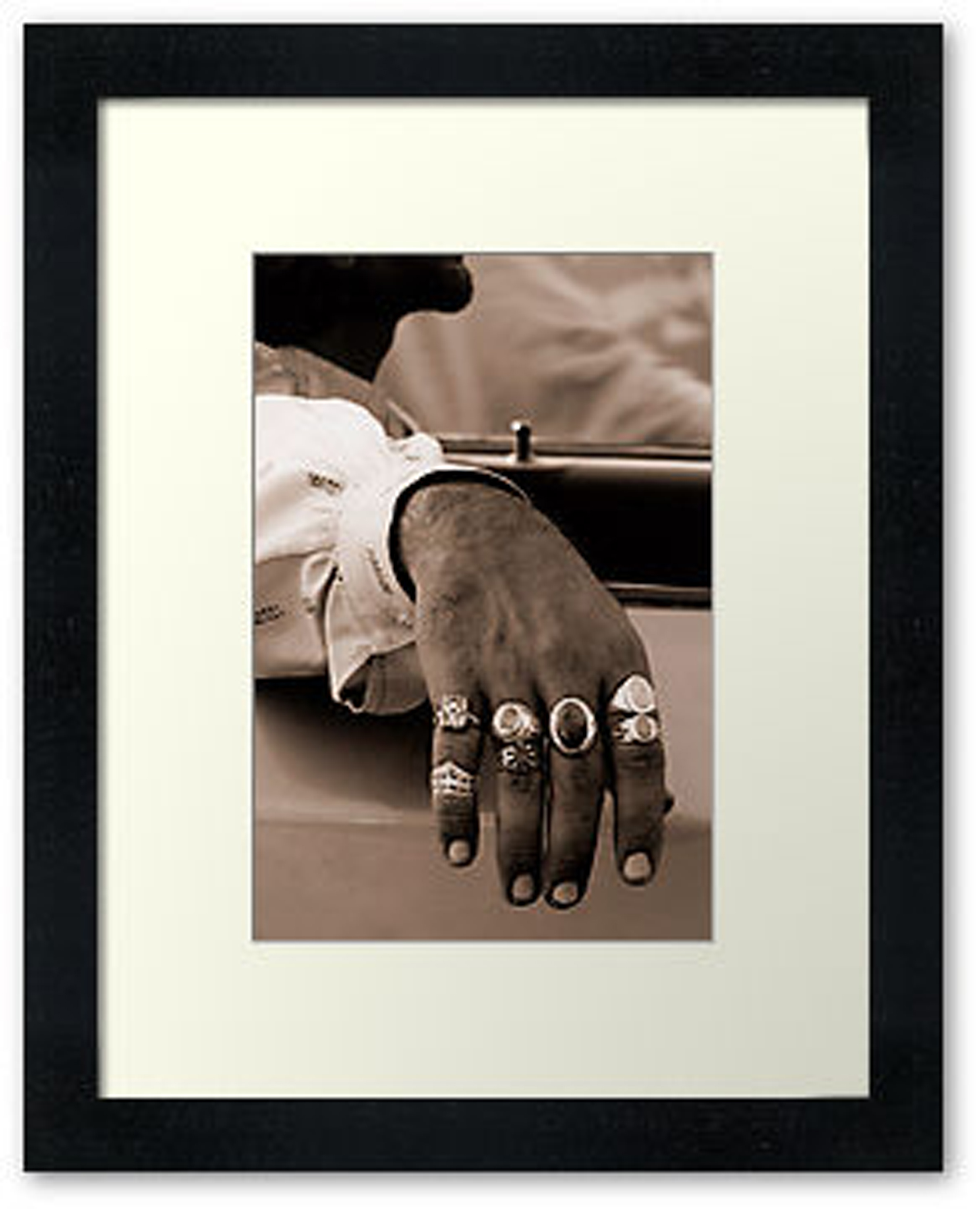 Rings, Hena Tayab Photographic Fine Art Print in Limited Edition of 50, framed and matted
