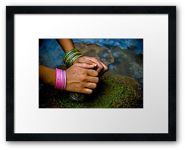 At Work, Hena Tayab Photographic Fine Art Print in Limited Edition of 50, framed and matted