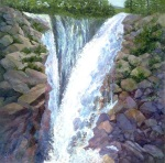 #ArtBuyer Oil Paintings of Long Island Farm Land and Ghost Ranch New Mexico, #print of Tahoe Waterfall