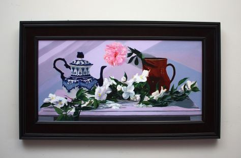 A Spill of Mock Orange, oil painting by Gray Jacobik