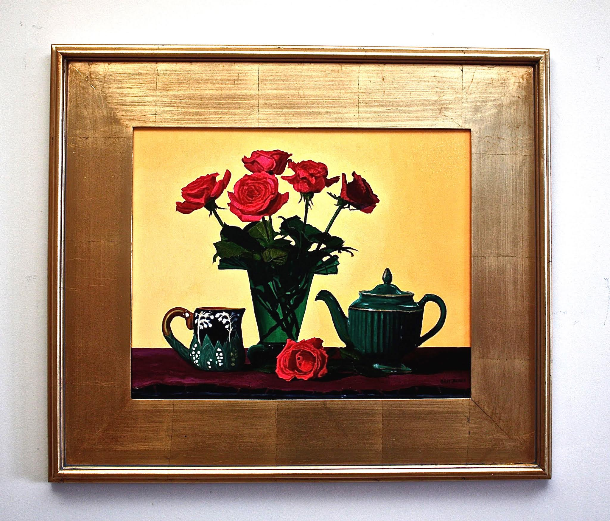 Tea Roses, oil painting by Gray Jacobik