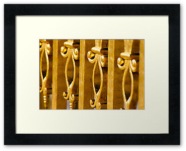 Elegantly Gold, Hena Tayab Photographic Fine Art Print in Limited Edition of 50, framed and matted
