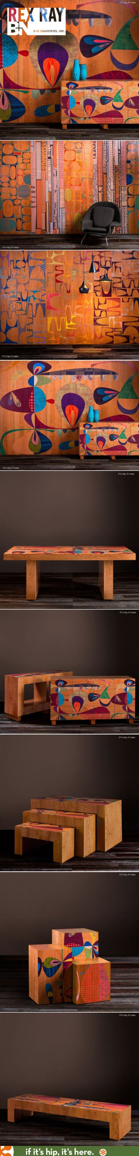 High End Art Licensing: Art on Wood Furniture, Wall Panels