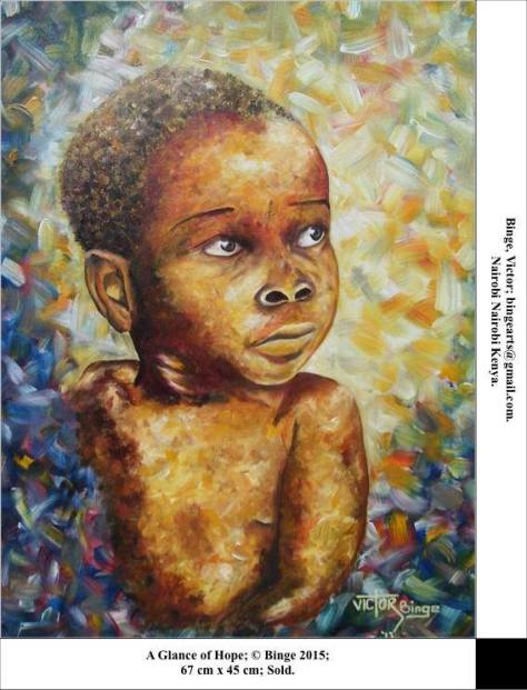 AfricanPPAGlanceofHope67x45cmAcrylicsonCanvas2014VictorBinge,NairobiKenya
