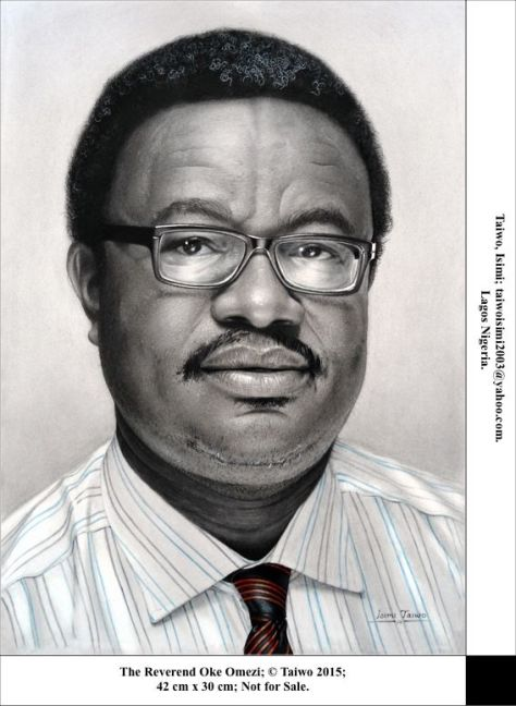 The Reverend Oke Omezi, Isimi Taiwo,  Lagos, Nigeria, Pencil on paper, 42 x 30cm