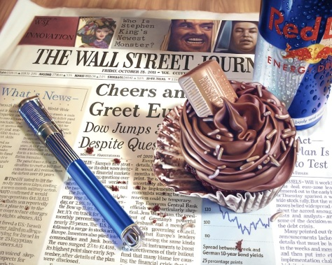 Wall Street journal, oil painting, Doug Bloodworth