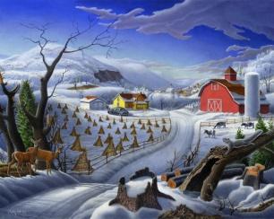 Rural Winter Landscape, Walt Curlee