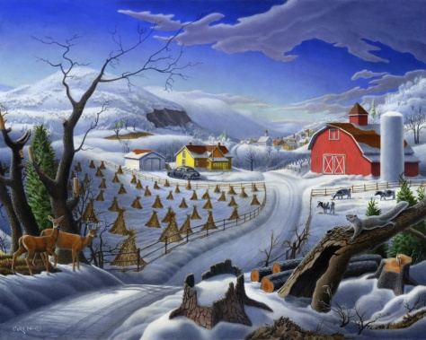 Rural Winter Landscape, Walt Curlee
