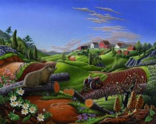 Springtime On The Farm,   Walt Curlee