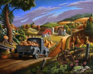 Taking Pumpkins To Market , Walt Curlee
