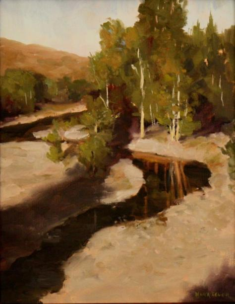 Method Valley River, painting by Nora Egger