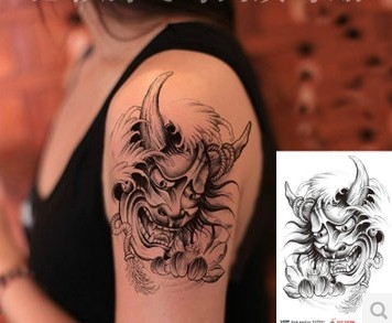 Japanese-Culture-Prajna-Ghost-Theme-Temporary-Tattoo