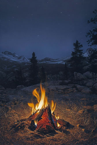 Mountain Campfire, Stephen Lyman